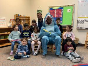 Dr Khan at the ILM Academy with Baby Shark